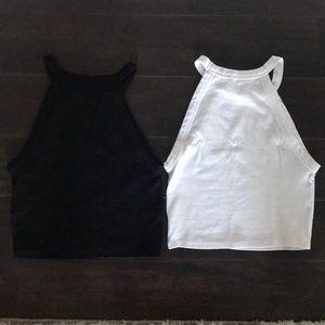 Zara Tops - Zara Set of Two White and Black Crop Top
